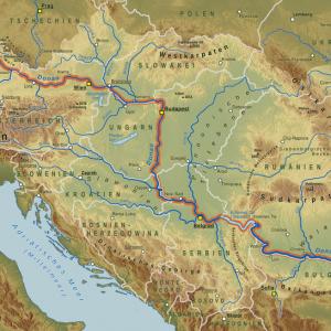 Flussverlauf Donau