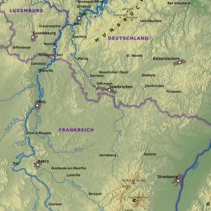 Flussverlauf Mosel