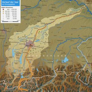 Flussverlauf Isar