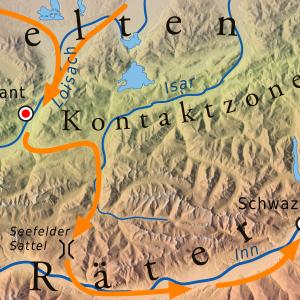 Kontaktzone Kelten-Räter