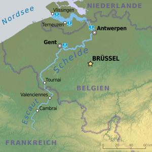 Flussverlauf Schelde